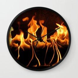 Dancing Fire Wall Clock