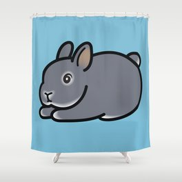 Netherland Dwarf Bunny Loaf Shower Curtain