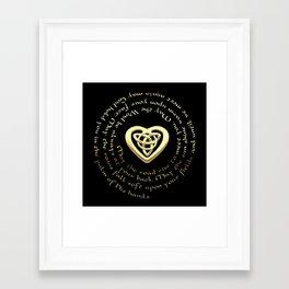 Irish Blessing & Celtic Heart Framed Art Print