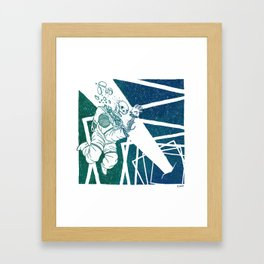 High-Concept Interstellar Journey Framed Art Print
