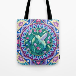 Hummingbird Mandala Tote Bag