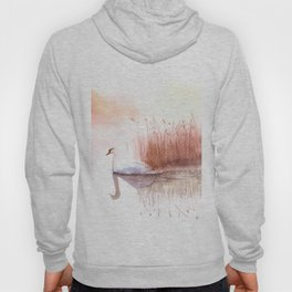 Landscape with a White Swan. Hoody