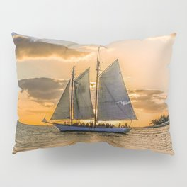 Sunset Sail and Plane Pillow Sham