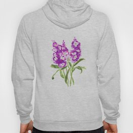 purple larkspur Hoody