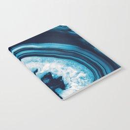 Blue White Agate #2 #gem #decor #art #society6 Notebook