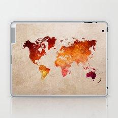 Red World Map Laptop & iPad Skin