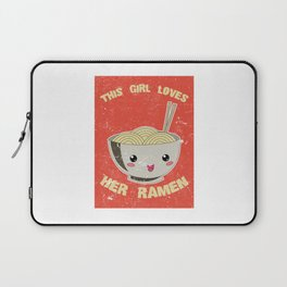 This Girl Loves Her Ramen Japanese Noodles Lover Vintage Retro Laptop Sleeve