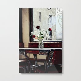 Cafe Break Metal Print