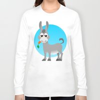 donkey Long Sleeve T-shirts featuring Little donkey by tuditees