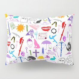 Buffy Symbology, Multi-color / Rainbow / PRIDE! Pillow Sham