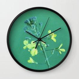 Broccoli Flower Wall Clock
