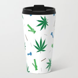 Cannabis & Paraphernalia Pattern Travel Mug
