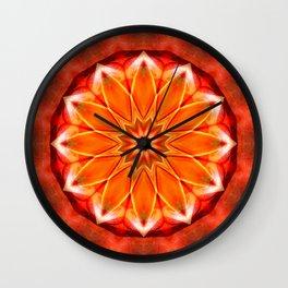 Mandala bitter orange Wall Clock