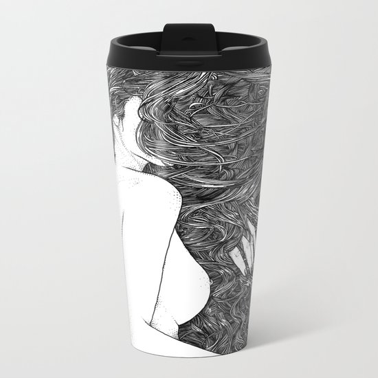 asc 590 - Le peigne (Combing her hair) Metal Travel Mug