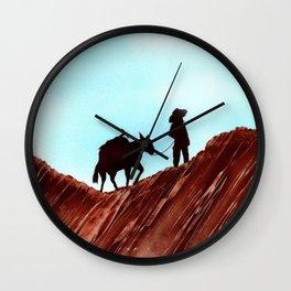 Gold Mining Wall Clock