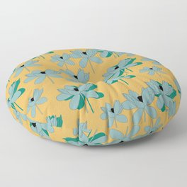 lotus opening Floor Pillow