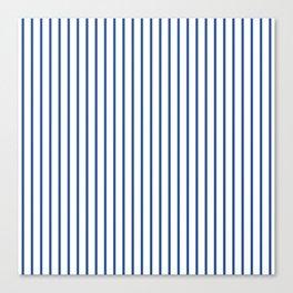 Delphinium Blue Pinstripe on White Canvas Print