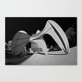 Grand Vitesse Black & White Canvas Print