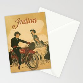 Vintage poster - Indian Motorcycles Stationery Cards