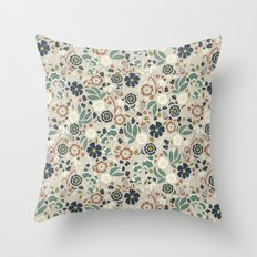 Flourishing Florals (Light-Green) Throw Pillow