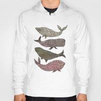 whales Hoodies featuring Whales by Saara Kaa