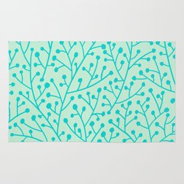 Berry Branches – Mint & Turquoise Palette Rug