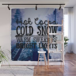 Winter love Wall Mural