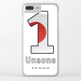 Unaone - Navy Code Clear iPhone Case