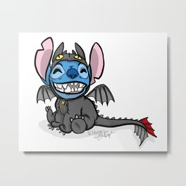 Toothless Stitch Metal Print