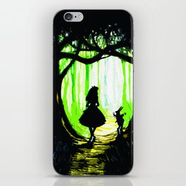 alice and rabbits iPhone Skin