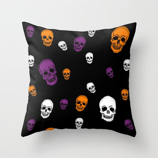 Skulls Galore Throw Pillow