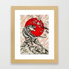 Japan Tiger Framed Art Print