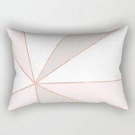 GEO SUNBURST ROSEGOLD PASTEL Rectangular Pillow