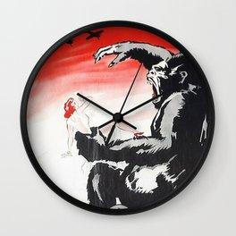 Vintage 1933 Version of RKO's King Kong Movie Cinema Poster Wall Art Wall Clock