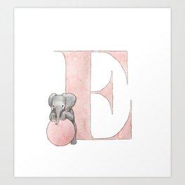 Aplhabet E Art Print