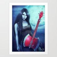 marceline Art Prints featuring Marceline by Emeraldus