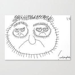 Fractal face Canvas Print