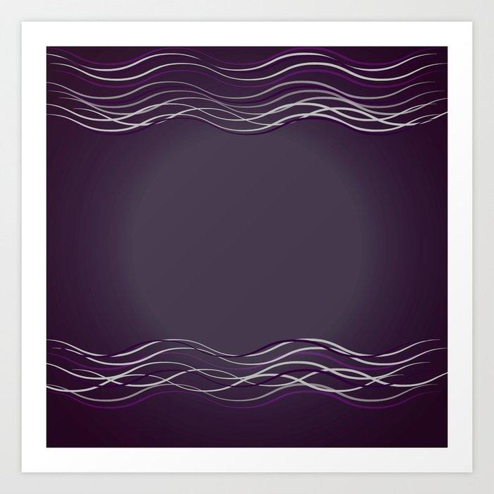 Purple Glow Electric Art Print