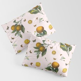 Oranges and Butterflies in Blush Pillow Sham