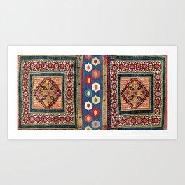 Sarab Khorjin Azerbaijan  Antique Tribal Persian Rug Art Print