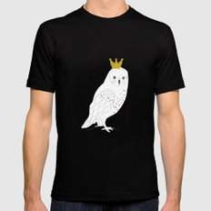 A king Owl,  MEDIUM Black Mens Fitted Tee