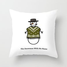 The Snowman With No Name Throw Pillow