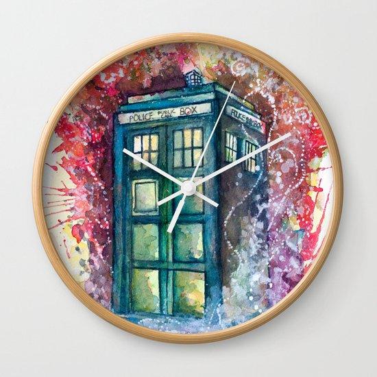 Doctor Who Tardis Wall Clock
