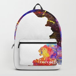 Georgetown Quote Art Design Inspirational, Motivat Backpack