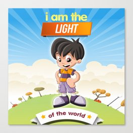I am the Light of the world. Canvas Print
