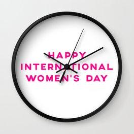 Happy International Women's Day Wall Clock