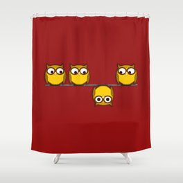 A whole new perspective for the owl Shower Curtain