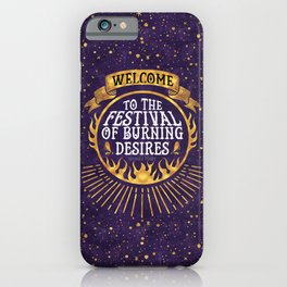 Daughter of the Burning City - Amanda Foody - Purple iPhone Case