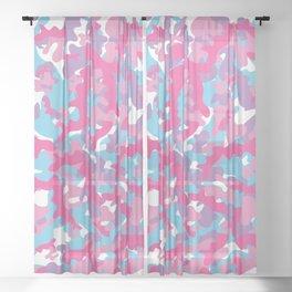 Unicorn's Breakfast [Camo Pattern] Sheer Curtain