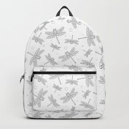 Summer background with dragonfly. Pattern with insects. Backpack